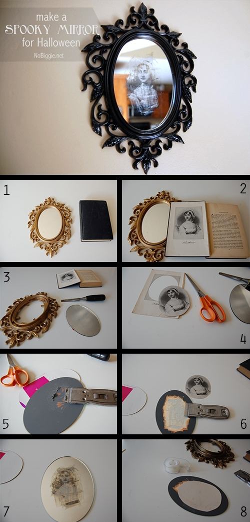 DIY veidrodis helovynui