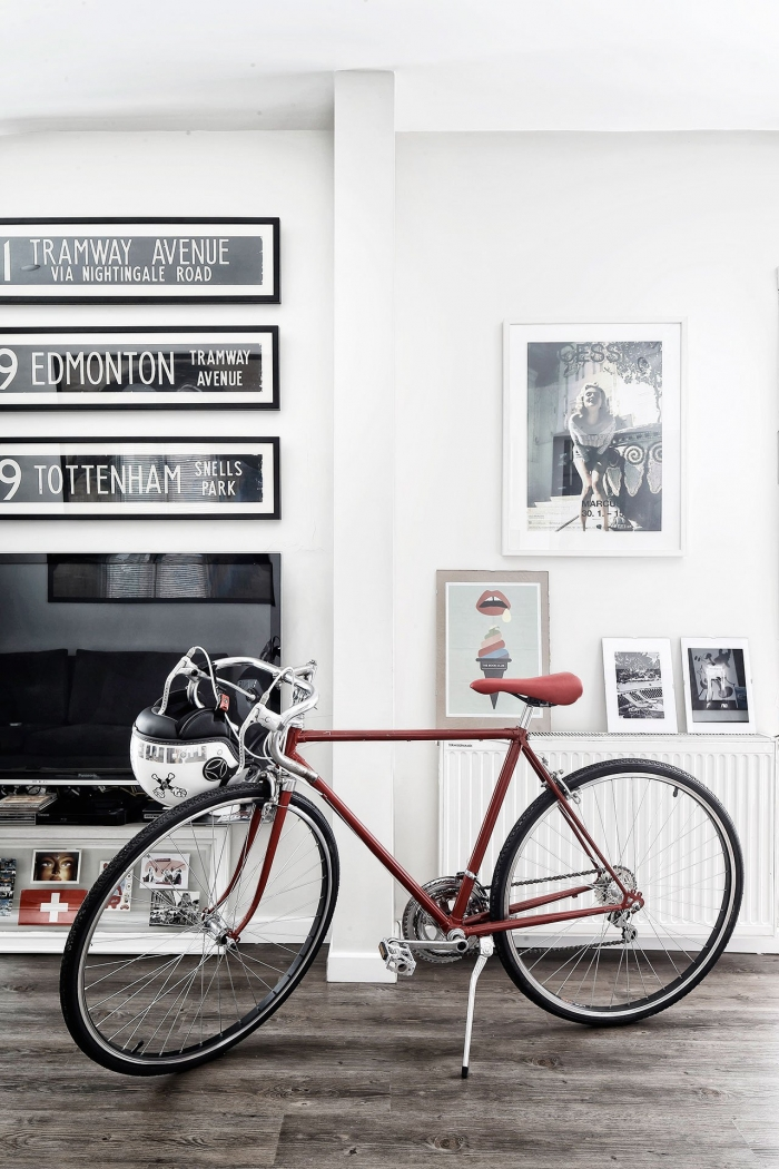 dviratis interjere
