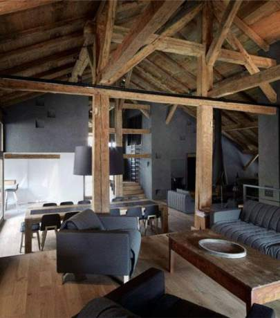 Beams in interior design