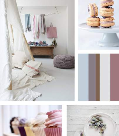 Mood board food + interior