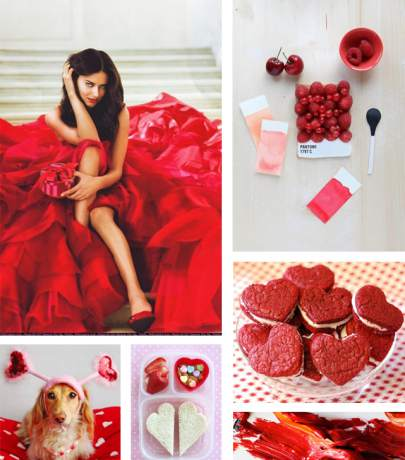 Valentine's day - red color