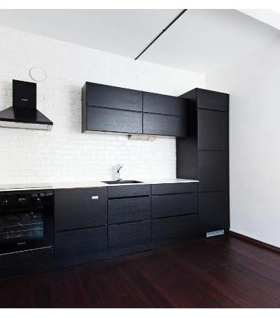 Kitchen design black - white