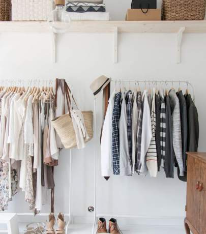 Open wardrobe ideas