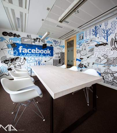 Facebook, Google, Linkedin, Pinterest, etc. offices