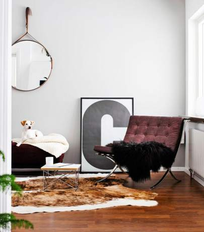 Cowhide carpet interior ideas