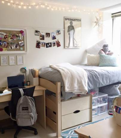 Dorm room interior ideas