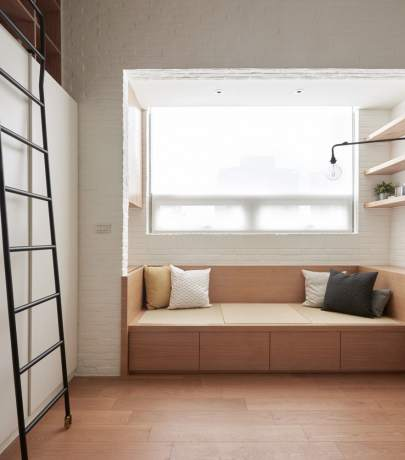 22 sq.m apartment interior in Taiwan