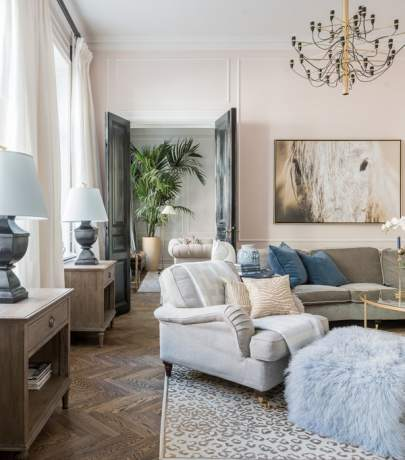 French glamour interior in Sweden