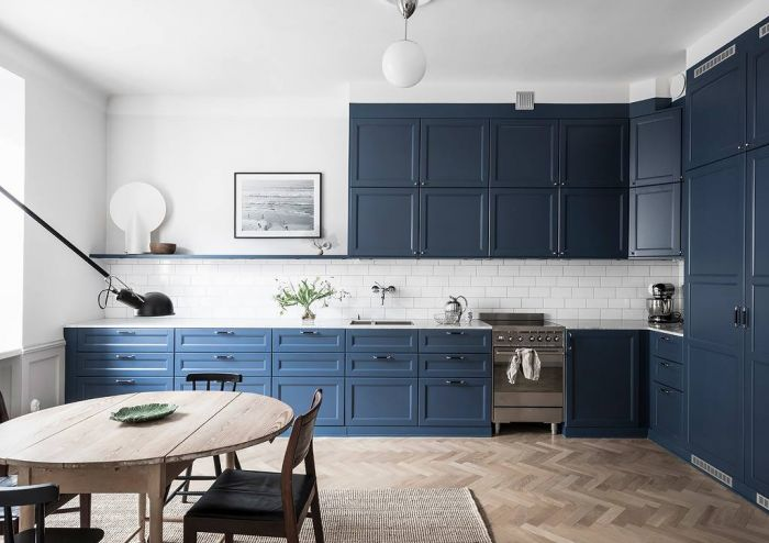 Blue kitchen furniture