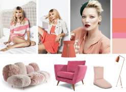 Mood board - Kate Moss and colors