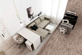 Interior for small spaces (29 sq.m)