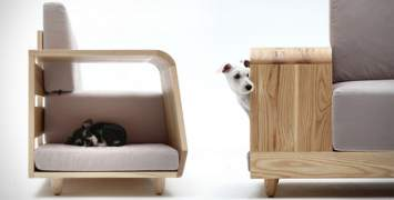 Furniture, adapted to animals