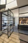 Black frames glass partitions