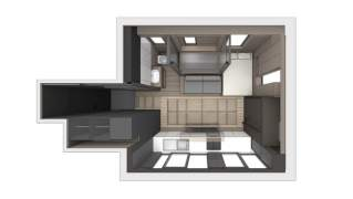 28 sq.m space-saving apartment interior