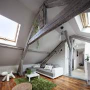 Attic interior after renovation