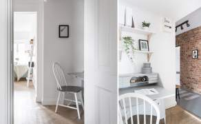 Cosy Scandinavian style 40 sq.m apartment