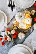 Home decoration with pumpkins