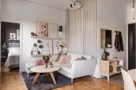 Cozy and feminine 36 sq.m apartment in Sweden