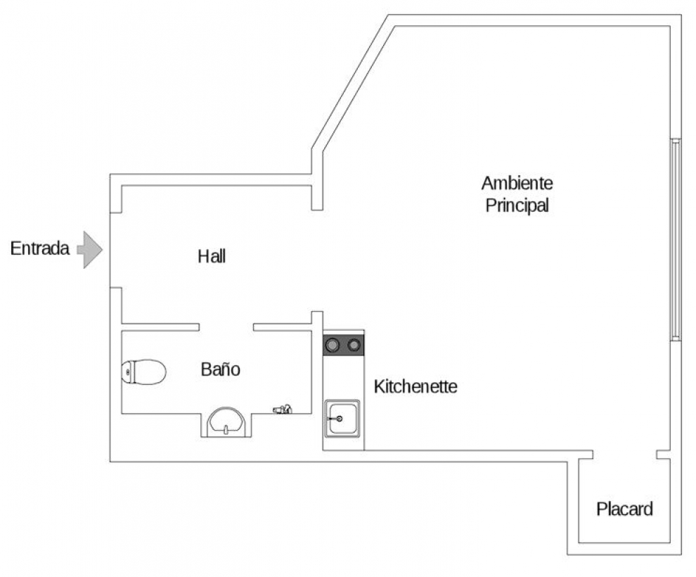 20 sq.m apartment plan