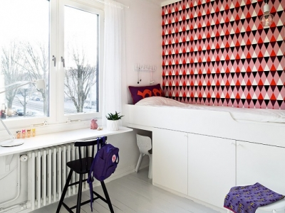 scandinavian teenager room