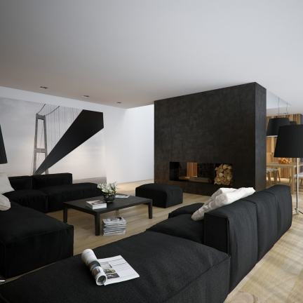 black color in interior