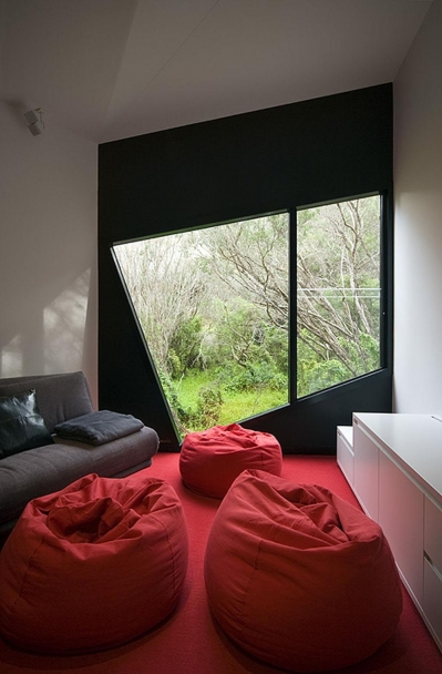 red accents in room