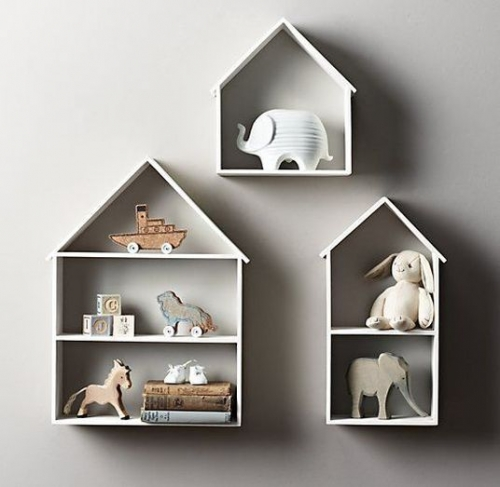 house-shaped shelf