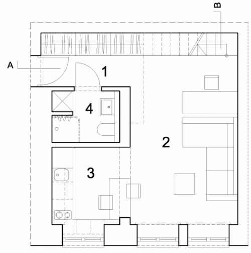 interjeras mažoms erdvėms