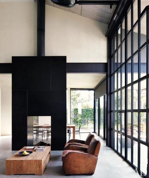 black frames window