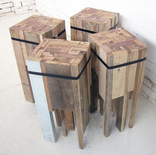 recycled wood table