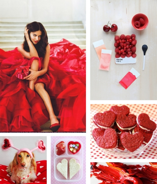 red mood board valentine's day