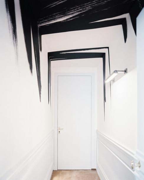 black and white in interior