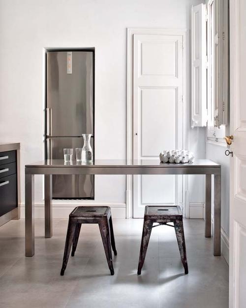 grey fridge
