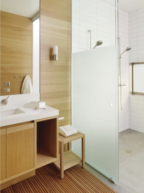 wood in bathroom