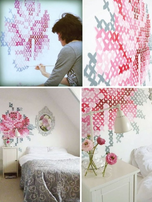 decor ideas over bed
