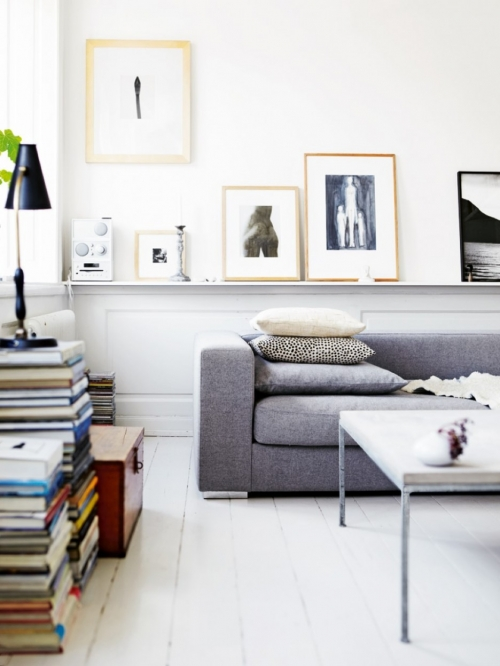books on the ground