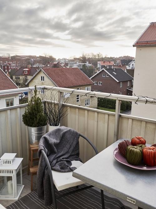 mažo balkono interjeras