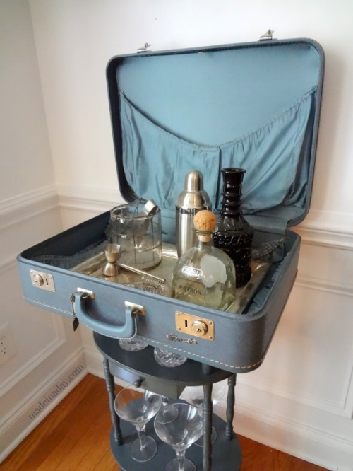 drinks bar luggage