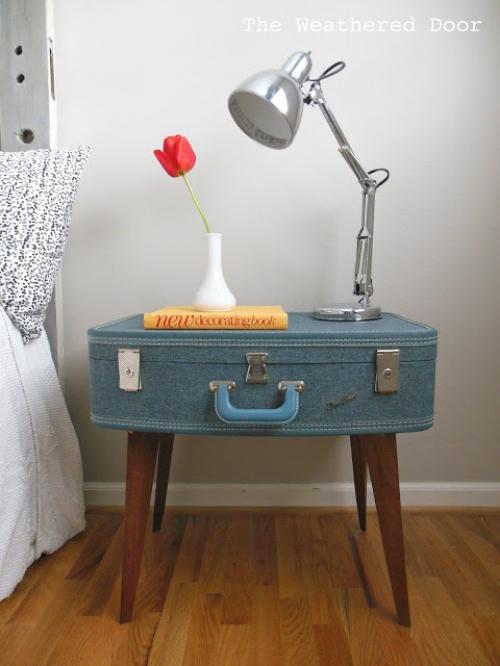 bedside table luggage