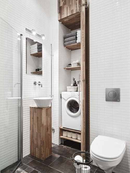 washing mashine ideas in bathroom