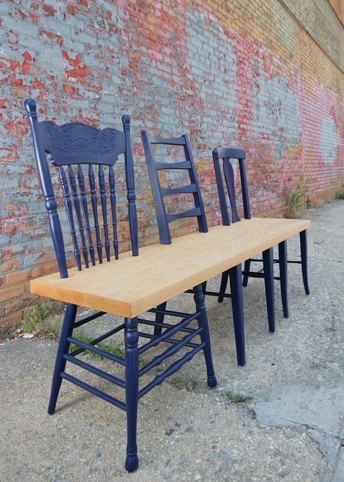 DIY kėdė-suolas