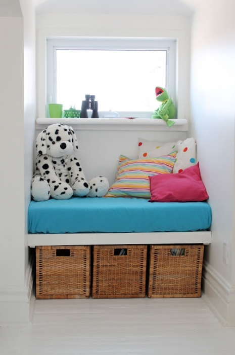soft bench in children's room