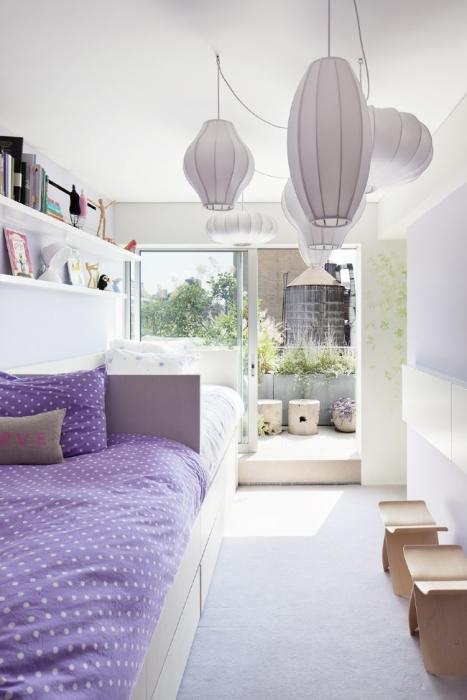 violet bed