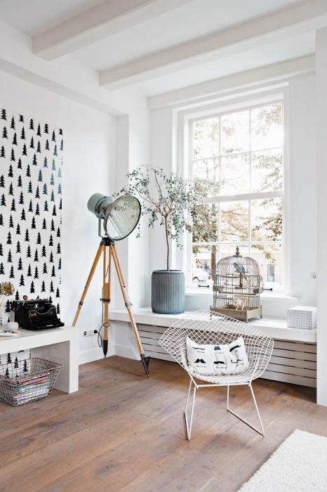 scandinavian room interior