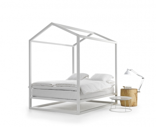 framed bed