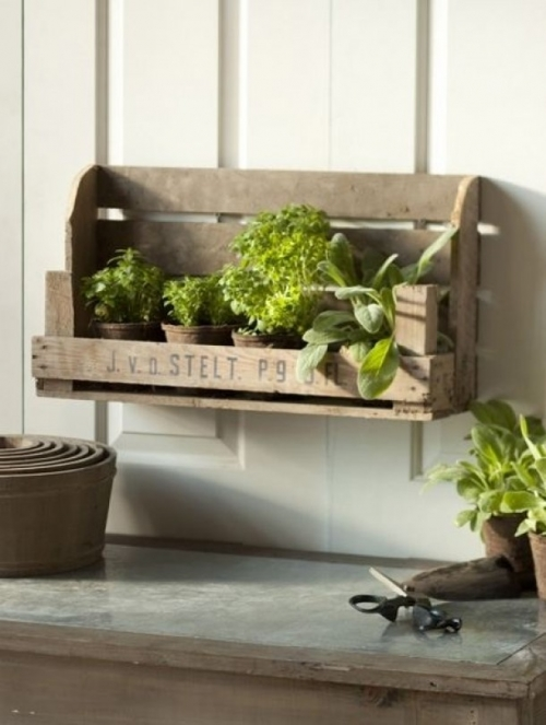 DIY herbs shelf