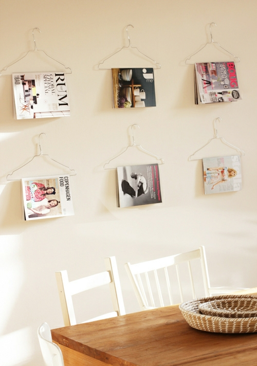 magazines on the wall