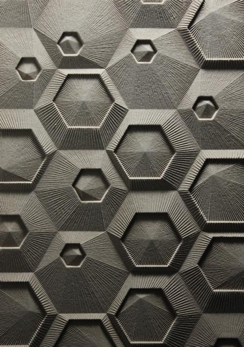 šešiakampių raštai