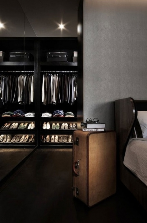 men closet room