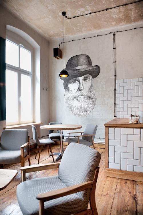 sienų dekoras kavinėje